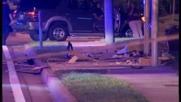 Two women are dead after an SUV slammed into them late Monday night.