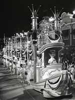 """Doll-like characters measuring almost 8 feet tall were developed specifically for the parade.  The dolls were called """"People of America."""""""