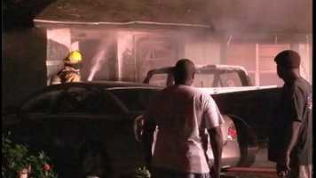 A young boy saved his family from a burning home early Tuesday.