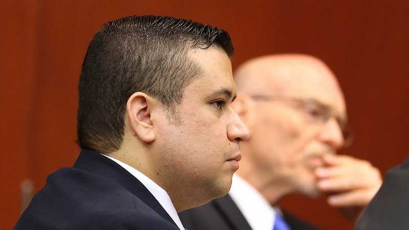George Zimmerman arrives in Seminole circuit court on the 2nd day of his trial, in Sanford, Fla., Tuesday, June 11, 2013. Zimmerman is accused in the fatal shooting of Trayvon Martin. (Joe Burbank/Orlando Sentinel)