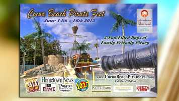 Pirate Fest: Cocoa Beach Pirates Fest runs all weekend at the International Palms Resort. Live entertainment and fun for the whole family is promised. Admission is free.