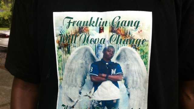 Cordaryl Wilson wears a shirt in memory of his friend, Karvas Gamble.