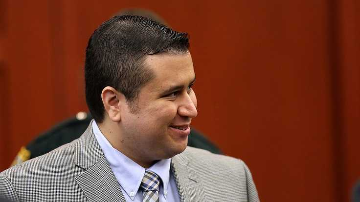 George Zimmerman smiles during a recess in Seminole circuit court on the 6th day of his trial, in Sanford, Fla., Monday, June 17, 2013. Zimmerman is accused in the fatal shooting of Trayvon Martin. (Joe Burbank/Orlando Sentinel)