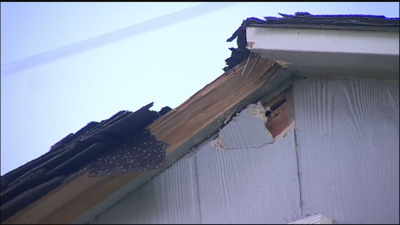 Two homes were struck by lightning in the Edgewater area as storms rolled through overnight.