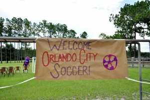 Some of the players from Orlando City soccer hit a different field on Wednesday.