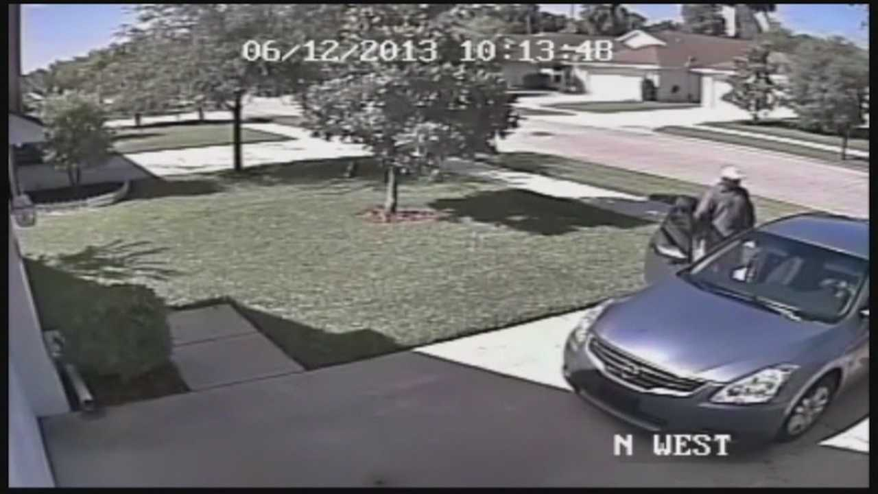 Authorities are investigating a rash of Volusia County break-ins and one homeowner is trying to help in the search.