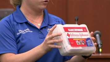 Sanford police officer's first-aid kit.