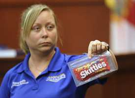 "6. Crime scene tech says she tested gun, Skittles, iced tea for DNACrime scene technician Diana Smith says she tested for DNA after the shooting, and Zimmerman's gun did not show evidence of ""touch DNA"" from Martin. On cross-examination, she said it was possible that touch DNA could be wiped off of an object."