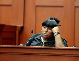 """2. Jeantel (Witness 8) says she didn't take her deposition with Martin family attorney Benjamin Crump seriouslyJeantel said she rushed through a deposition by Martin family attorney Benjamin Crump, which was later played in parts on national television. """"It doesn't mean nothing to me,"""" she said of the deposition."""