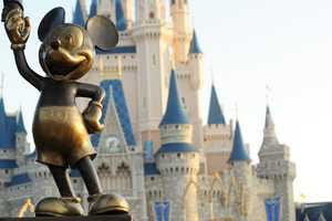 One early sketch of the Partners Statue featured Mickey holding an ice cream cone in one hand.