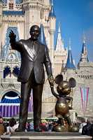 4. When choosing an expression for Walt's face, Blaine tried to reflect Walt's goal of making people happy. The statue's expression is Blaine's interpretation of Walt watching happy people enjoy the park.