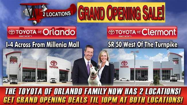 new Toyota specials in Orlando