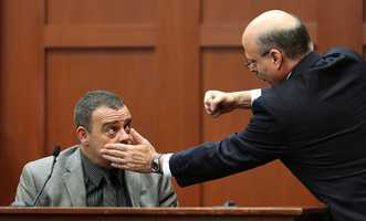 """6. Lead investigator: Zimmerman had inconsistencies, exaggerationsSerino reiterated his statements from Monday that there were minor inconsistencies and exaggerations in Zimmerman's statements but nothing he could """"challenge"""" Zimmerman with. De la Rionda focused on a few of Zimmerman's statements that didn't match up -- one being the position of Martin's body. Martin was found with his arms under his chest, but Zimmerman told police he had spread his arms."""
