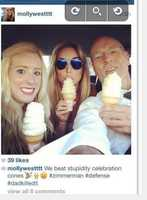 """11. Motion filed over picture taken by Zimmerman lawyer's daughterA new motion filed by the state says a picture posted online by a daughter of Zimmerman's defense attorney Don West is """"inflammatory."""" The picture, which was posted on Instagram, shows West and his daughter eating ice cream with this caption: """"We beat stupidity celebration cones #zimmerman #defense #dadkilledit"""" Some have speculated it was directed at state witness Rachel Jeantel. West filed a response, saying the picture was taken the day before Jeantel took the stand and it was meant to be a private moment."""