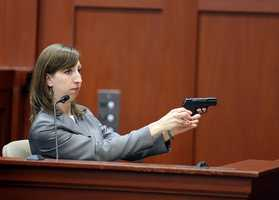 "2. Firearms expert: Trayvon Martin died from contact shotAn FDLE firearms specialist testified that Zimmerman's gun was loaded with eight bullets, one in the chamber, before he shot and killed Martin. Amy Siewert said the shot that killed Martin was a ""contact shot,"" meaning the barrel of the gun was touching Martin's clothes when it was fired."