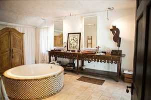 Unbelievable tub in the master bathroom.