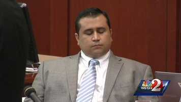 5. Zimmerman shakes his head when prosecutor points at him, says he's guiltyDe la Rionda walked over to Zimmerman at the end of his closing argument and said he was guilty of second-degree murder. Zimmerman shook his head. See the video
