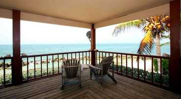 The Bahamian-style home is 5,000 square feet with a wide veranda.