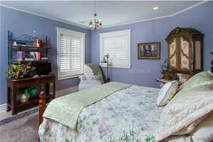 All of the bedrooms large and painted in a different, calming color.