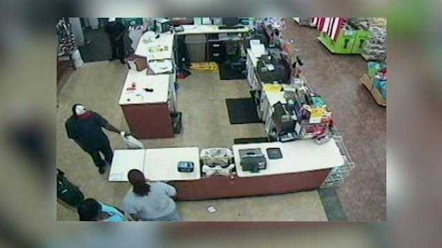 Authorities are searching for two robbers who stormed a store in Altamonte Springs.