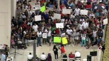 Participants hope to pressure the Justice Department to move forward with civil rights charges against George Zimmerman.