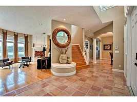Elegant open layout through the 5,377 sq. ft. home.