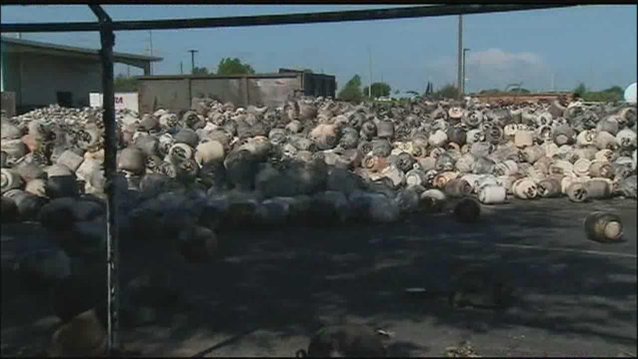 Neighboring businesses to Blue Rhino plant survey damage
