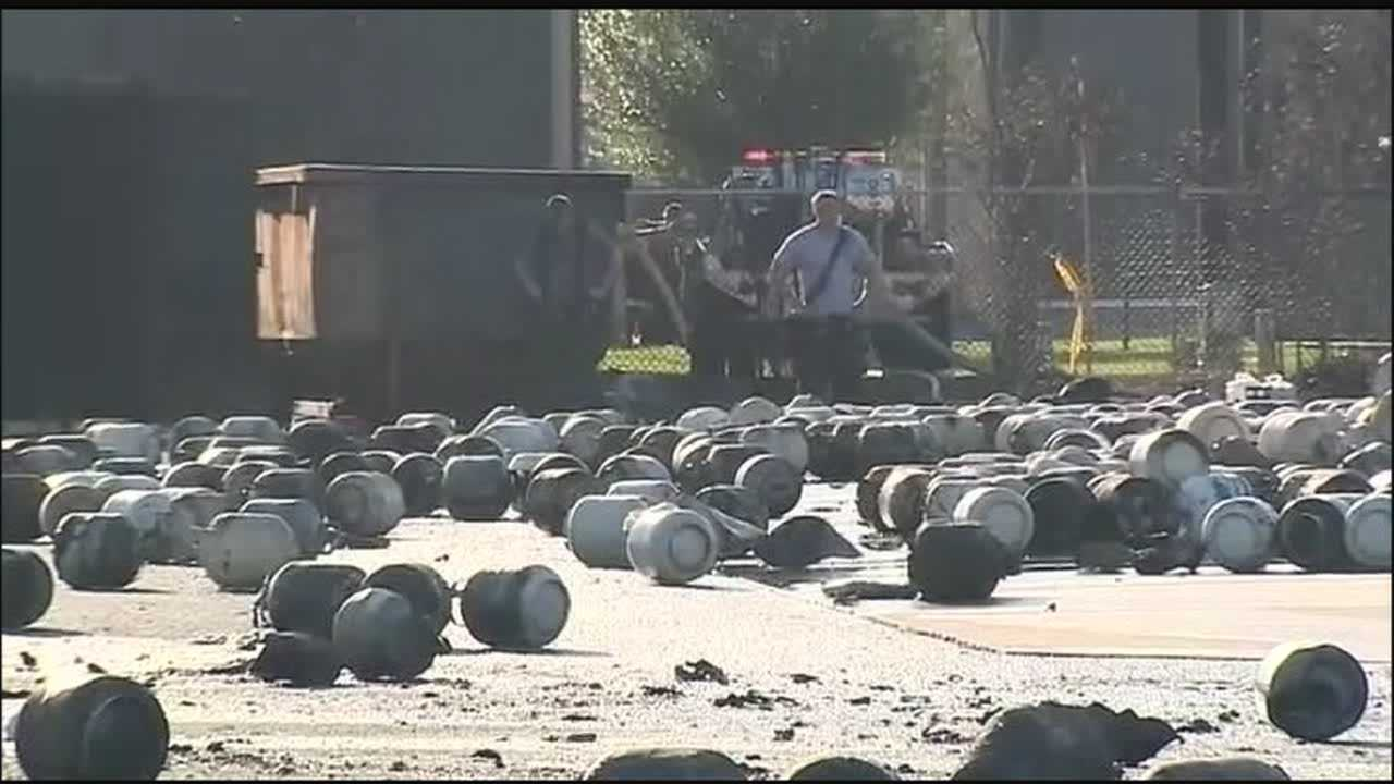 Investigators looking into cause of Blue Rhino propane plant explosion