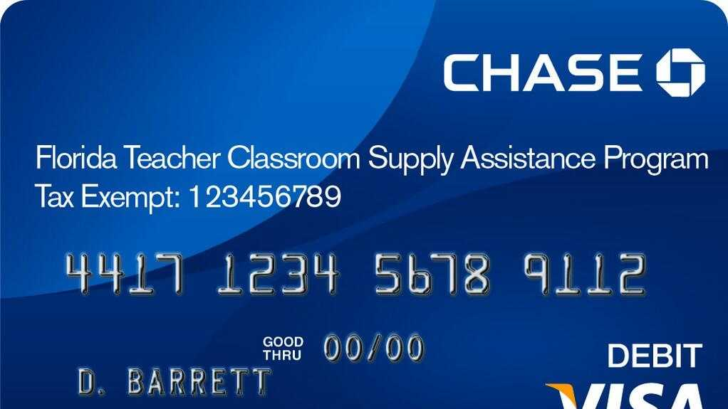 florida teacher debit card