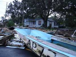 2005: Hurricane Dennis sends a boat onto shore in Franklin County. The category 3 storm caused $2,545,000,000 in damage.