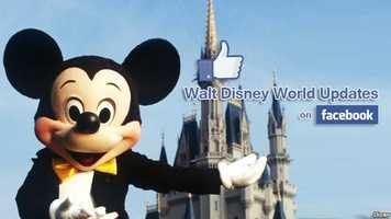 "For the latest Disney news and fun features, don't forget to ""LIKE"" the Walt Disney World Updates page on Facebook."