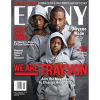Dwayne Wade and his sons on Ebony's cover.