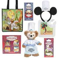 Other items include: a Mouse ear headband with a chef's hat, a new cranberry bog pin featuring Chip 'n' Dale, and a new three-inch Vinylmation figure.