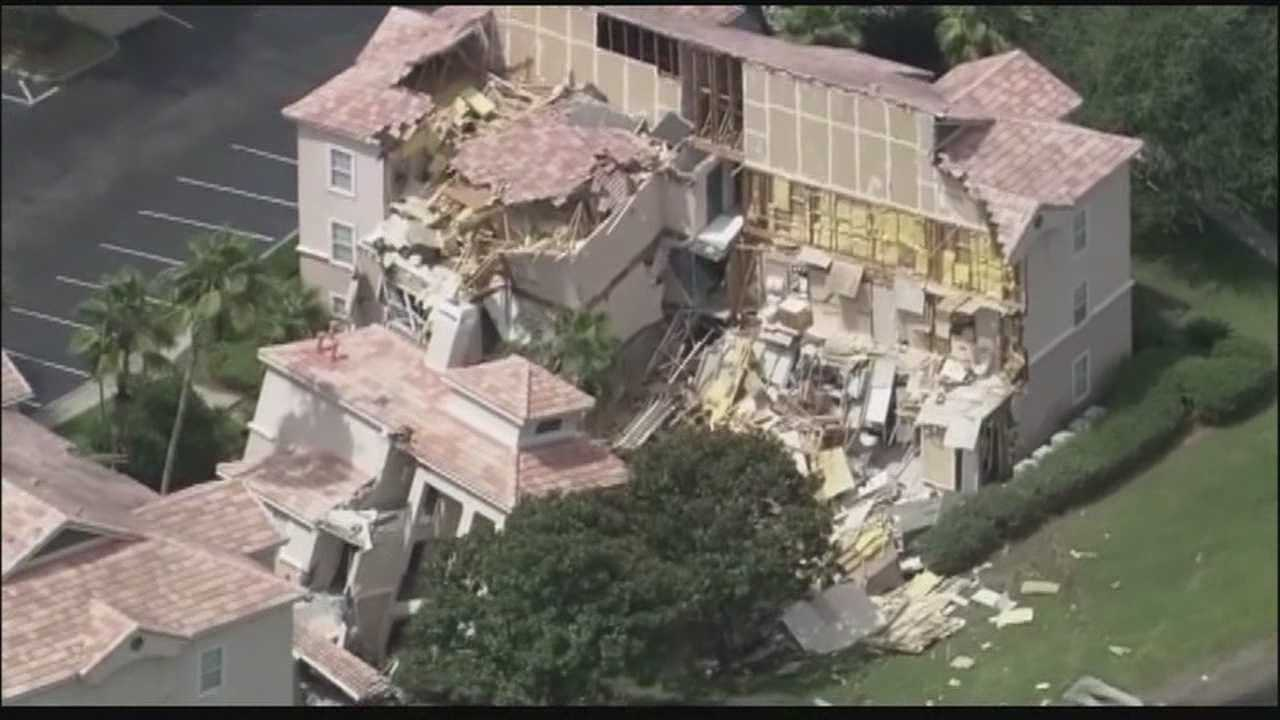 More information on a sinkhole that caused a three-story building at a Clermont resort to collapse is expected to be released on Tuesday.
