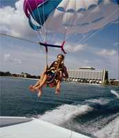 Sammy Duvall's Parasailing: Take to the friendly Florida skies with a relaxing parasail ride at Sammy Duvall's Watersports Centre. Feel the wind in your hair as you fly solo above Bay Lake, or share the sights with a friend on a tandem flight. State-of-the-art parasailing technology lets you take off and land gently right from the boat, so you can safely soar to great heights without ever having to get wet.