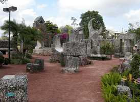 The Coral Castle in Homestead: The Coral Castle cost just 10 cents for admission in the 1940s. It is said no one knows exactly how Ed Leedskalnin created the castle between 1923 and 1951, but he carved over 1,100 tons of coral rock into what it is today.