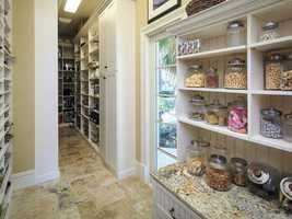 Even the butler's pantry is rich with detail.