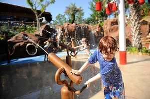 3. Uwanja Camp at Samawati Springs Pool, Disney's Animal Kingdom Villas – Kidani Village - Features: Animal-observation theme, leaky buckets, water cannons
