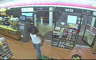 This man was seen on video buying a hat similar to the one worn by the robber.