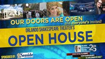 Shakespeare Open House: The Orlando Shakespeare Theater is celebrating its 25th season with a free night of music, games and other activities at the Lowndes Shakespeare Center in Orlando.
