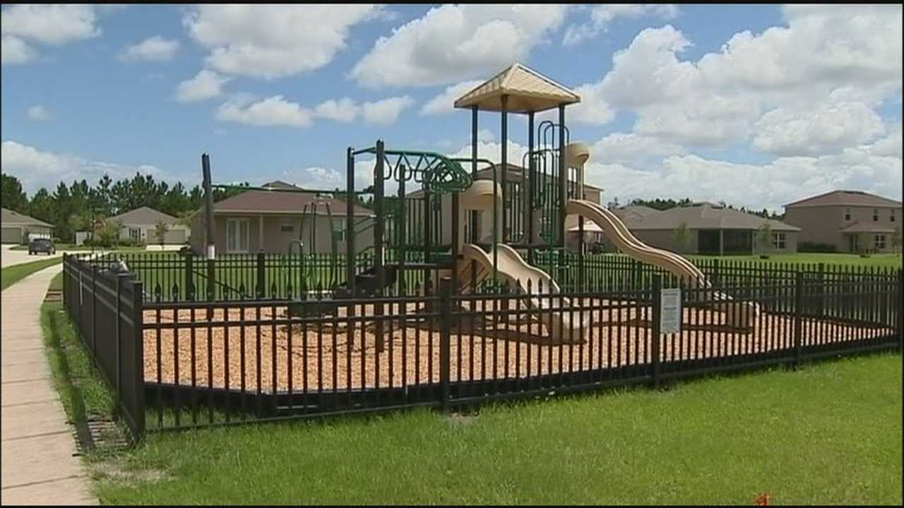 Residents build playground to keep sex offenders away