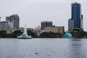 Present day Lake Eola.