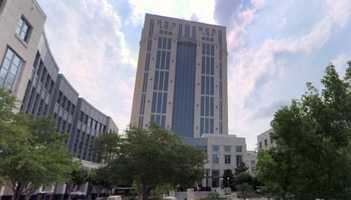 The current Orange County Courthouse was completed in 1997.  It includes a 23-level courthouse tower, two five-story office buildings and a 1,500 car parking garage.