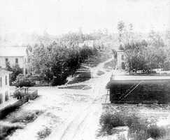 A look down Orange Avenue in 1879.