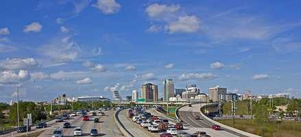 Orlando's main interstate - Interstate 4.