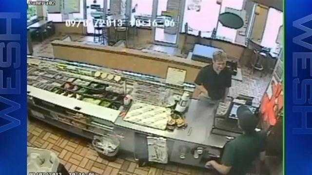A brazen robbery at an Orange County Subway restaurant is caught on camera.
