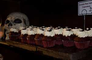 Zombie red velvet cupcakes