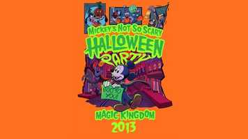 Disney revealed the designs for Mickey's Not-So-Scary Halloween 2013 shirt (pictured above) and pins. The event starts Sept. 18.