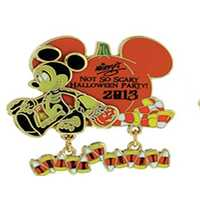 "Mickey's ""trick or treat"" pin."