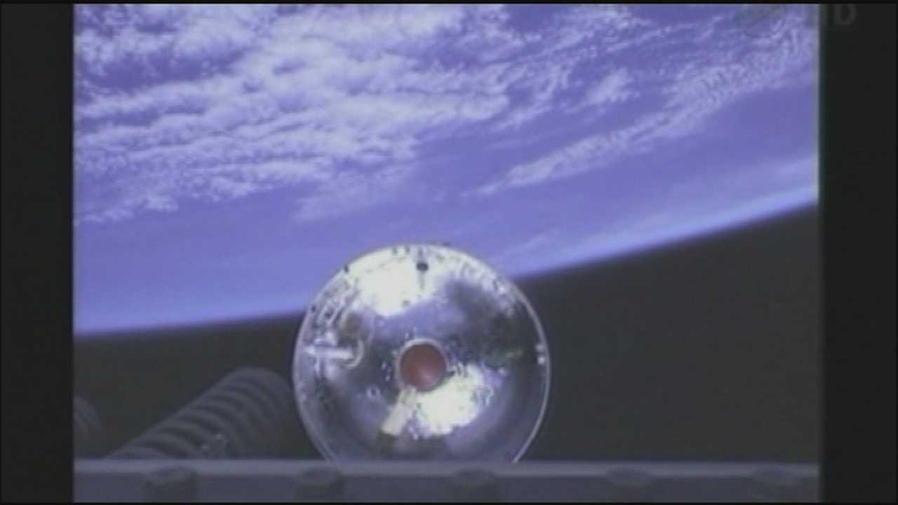 A private company launched a supply ship to the International Space Station on Wednesday morning.